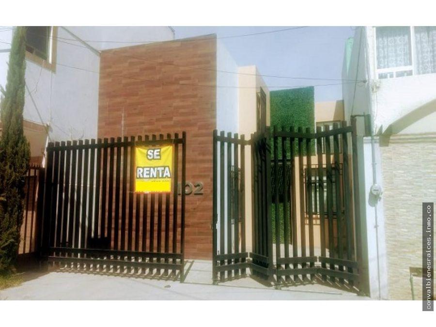 casa en renta col constitucion pachuca hgo