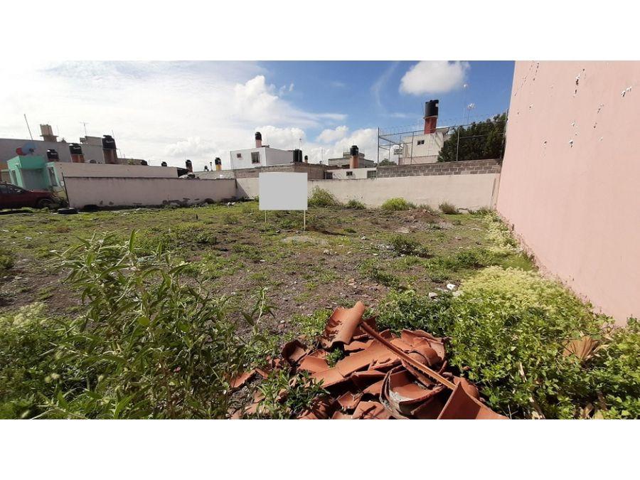 venta de terreno o lote en villa de tezontepec hgo