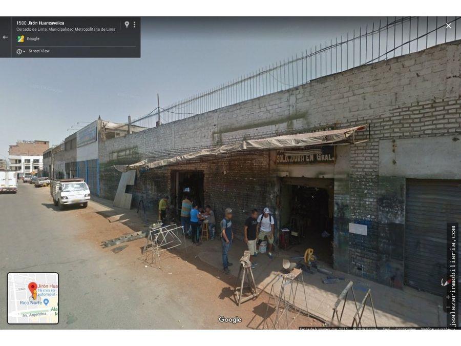 terreno comercial 8637 m2 jr huancavelica cercado de lima