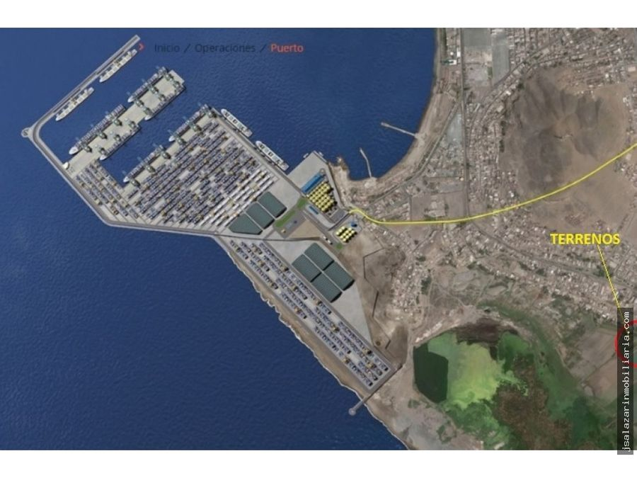 terreno 60has almacenes logistica frente al megapuerto chancay