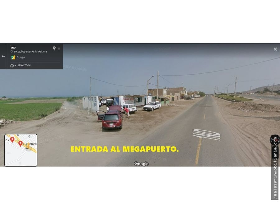 terreno rustico 15 has salinas alta frente al megapuerto chancay