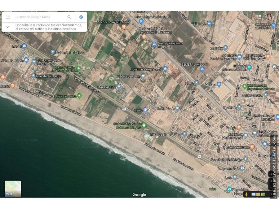 terreno de 55821 m2 a pie de pista lurin