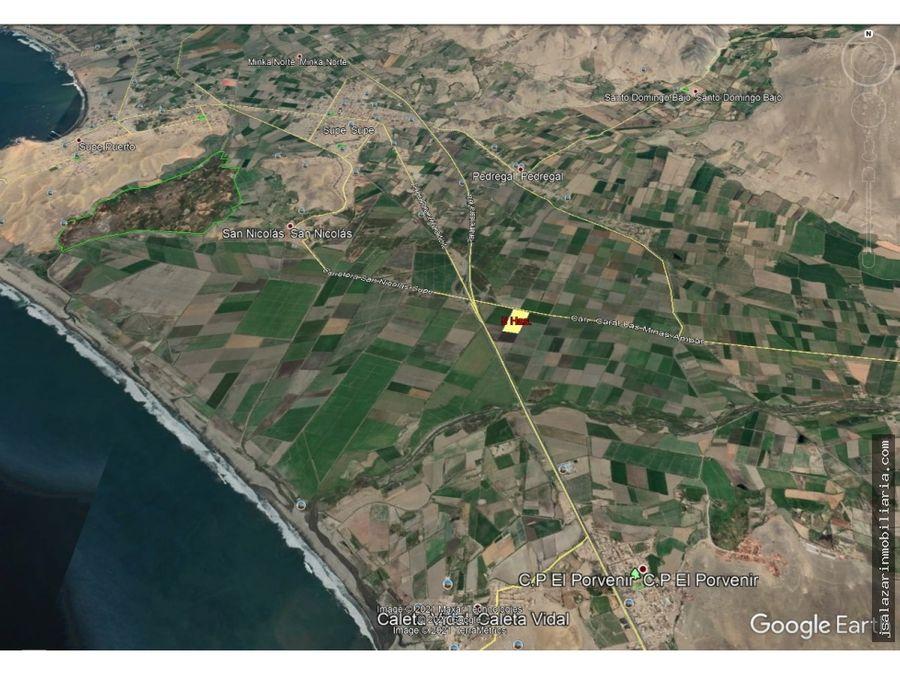 terreno rustico 500 has supe barranca lima km 184 pan norte