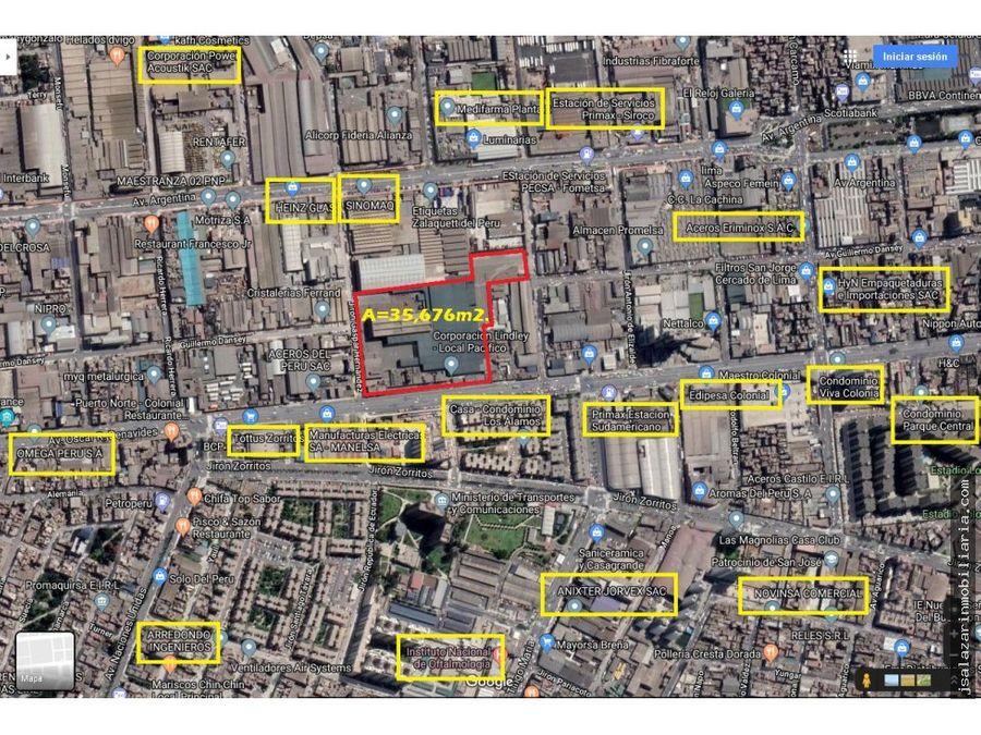 terreno industrial i2 3567611 m2 lima cercado