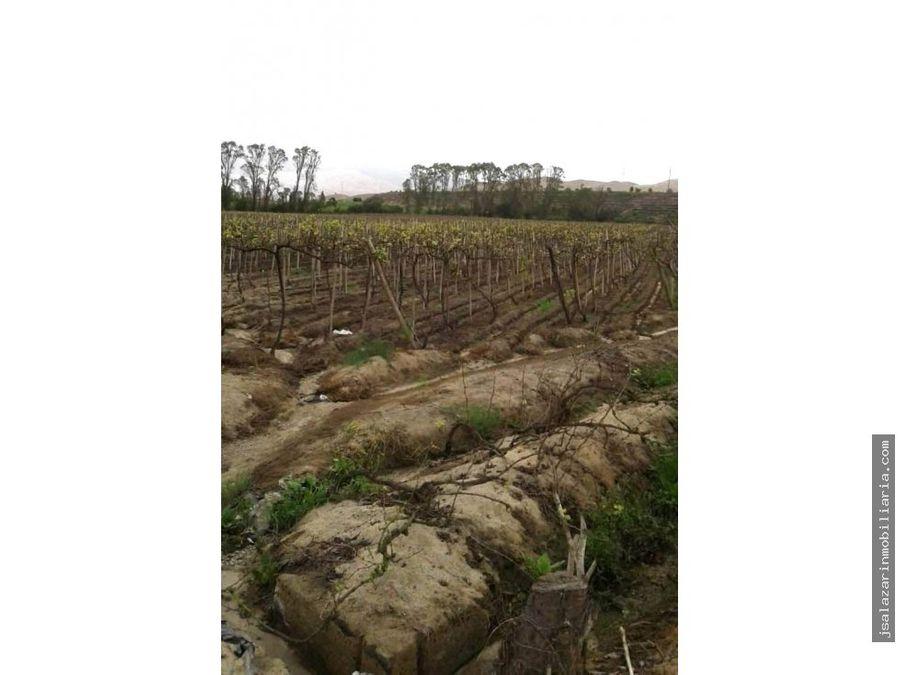 terreno agricola 19 has con agua en el valle pativilca