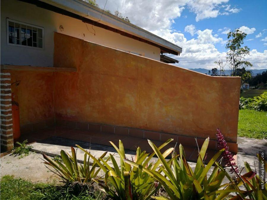 venta de casa lote en el carmen del viboral