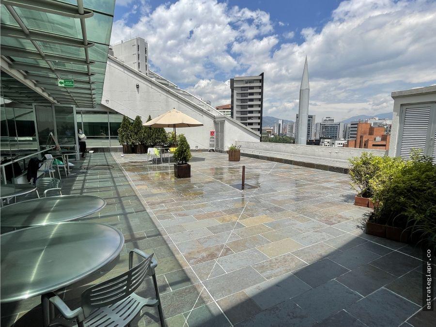 arriendo de oficina piso completo con terraza en milla de oro