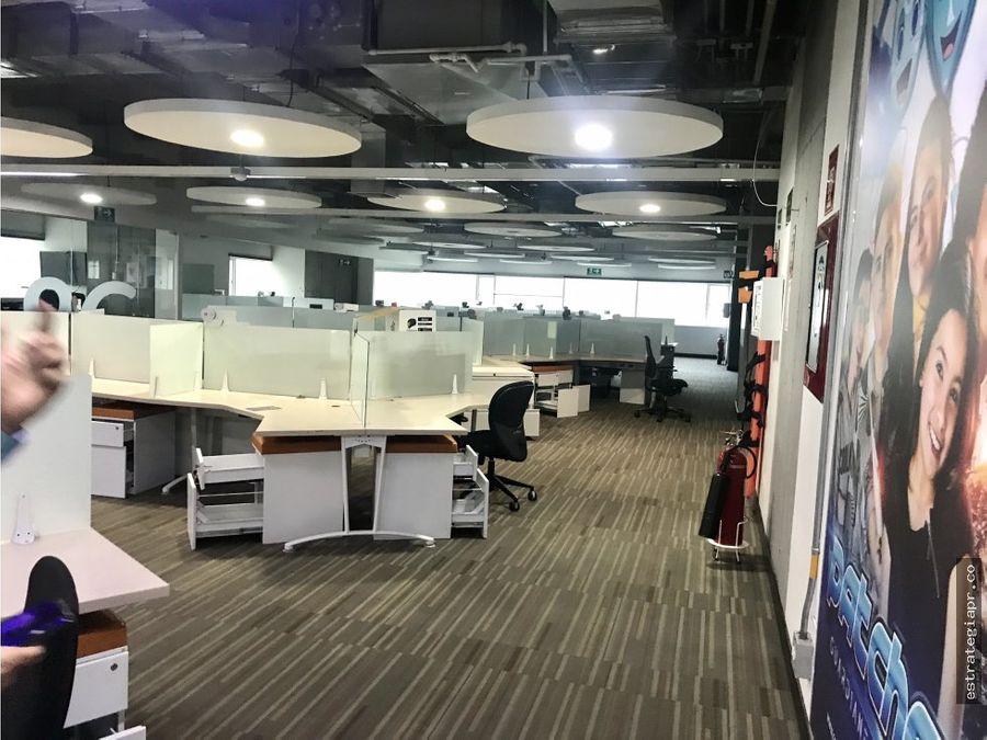 arriendo de oficina piso completo en ciudad del rio medellin