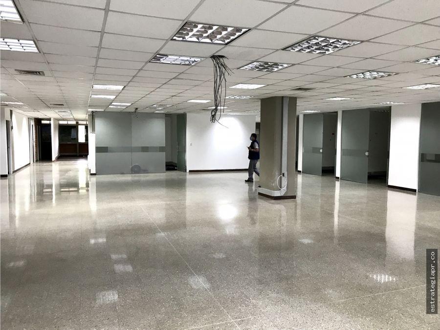 arriendo de oficina piso completo en la aguacatala medellin