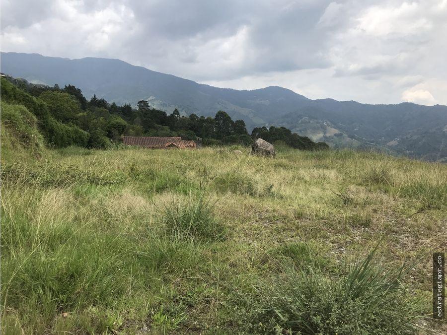 venta de lote independiente en transversal de la montana envigado