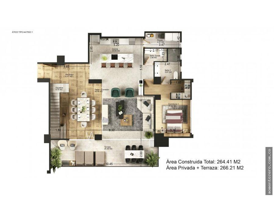 venta exclusivo penthouse central en pereira