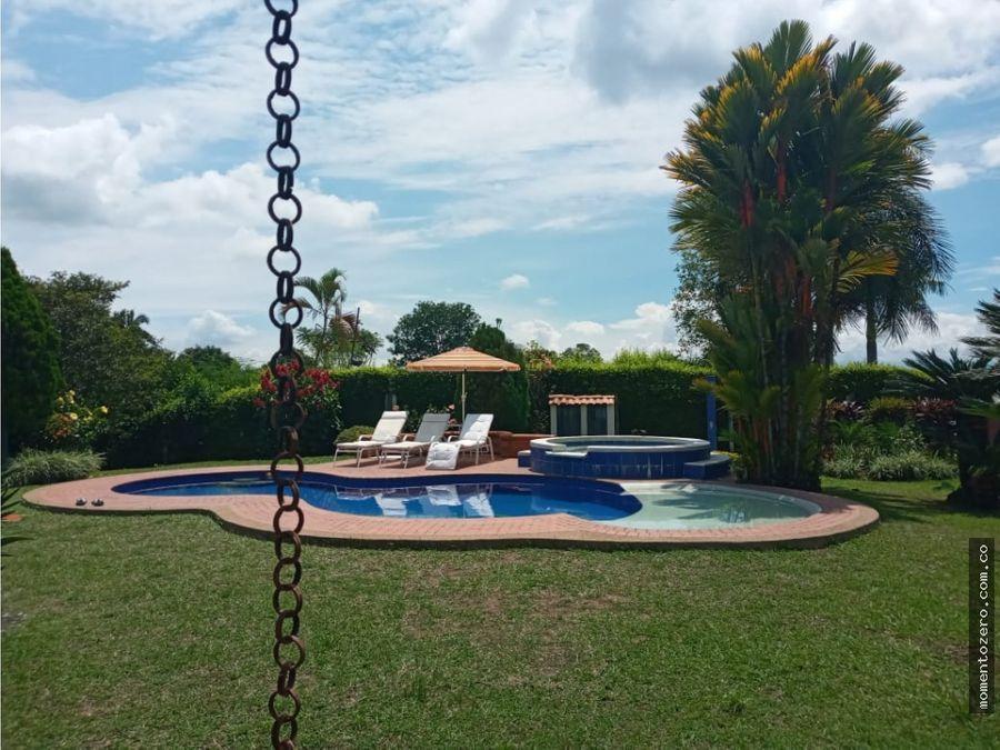 venta casa campestre con piscinapereira gangazo