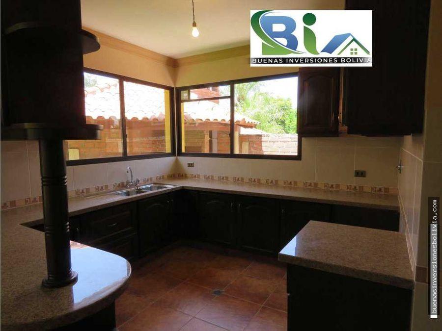 us850 alquiler casa 4 suites prox col tiquipaya