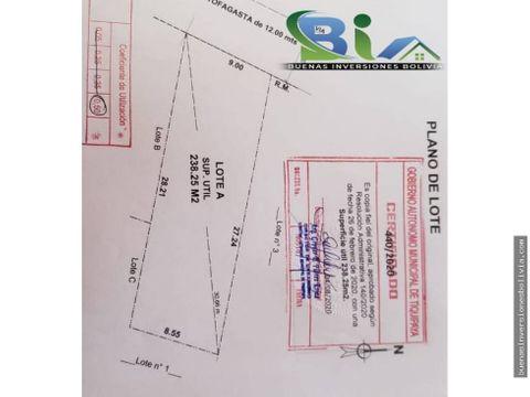us59000 lote urbano sup238m2 prox av simon lopez zona sarco