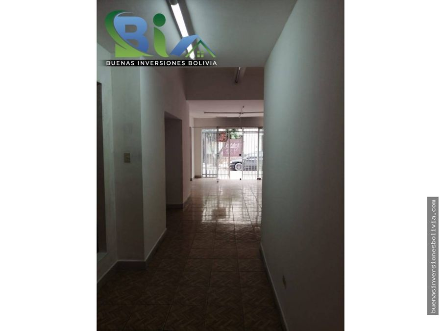 bs2500 local comercial sobre calle mayor rocha prox av ayacucho