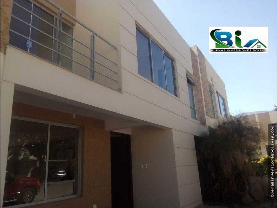 us164500 casa nueva en condominio tiquipaya
