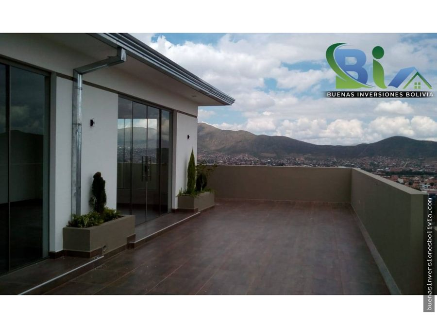 us 172870 penthouse terraza sup342m2 zona quintanilla km 4