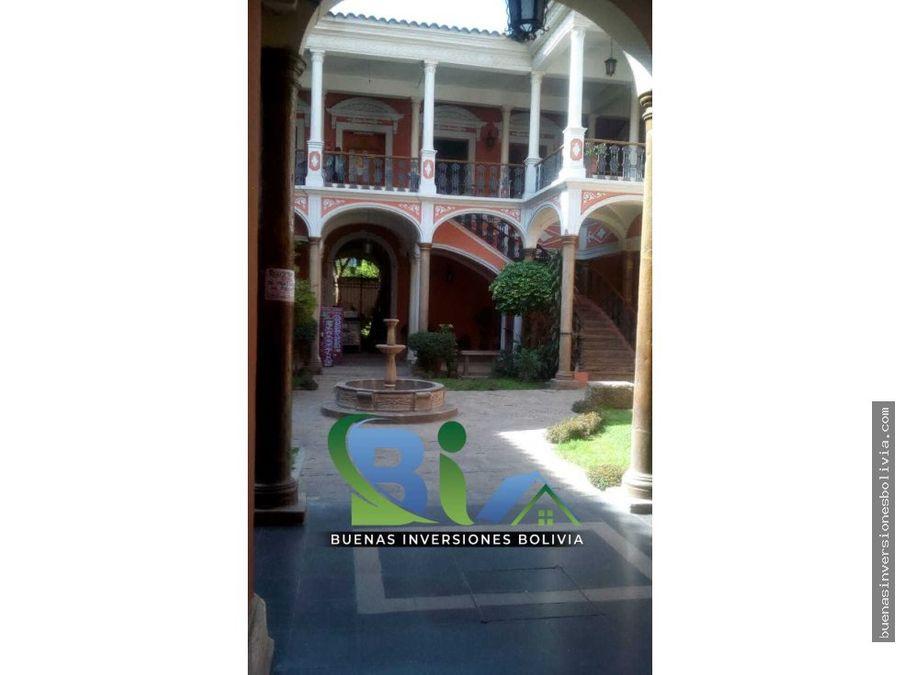 casa comercial esquina dos plantas rentable cbba