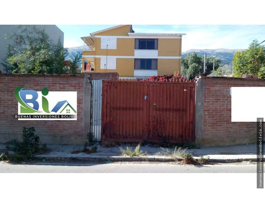 us127000 lote en esquina prox comuna tunari av melchor perez