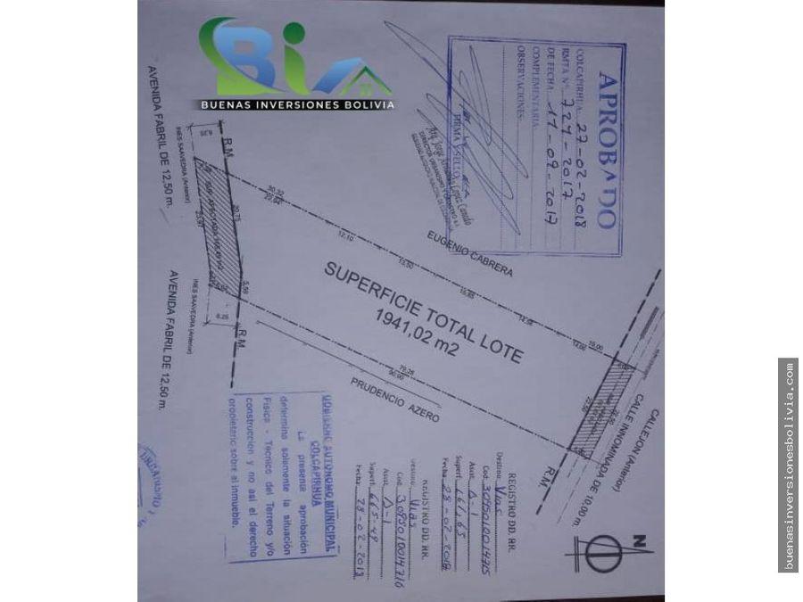 oferta us 199000 lote urbano sup 194102m2 a pasos av reducto