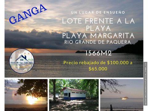 rebajada cabana frente al mar playa margarita peninsula de nicoya