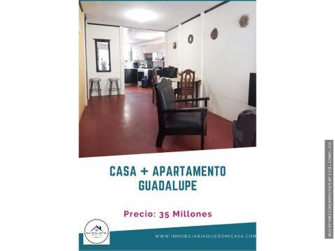 excelente opcion casa apartamento en guadalupe