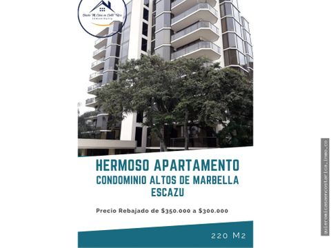 hermoso apartamento altos de marbella escazu