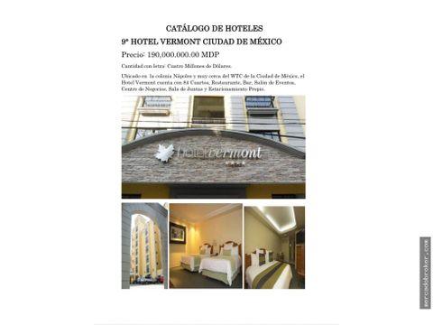 oportunidad de inversion hotel vermont cdmx