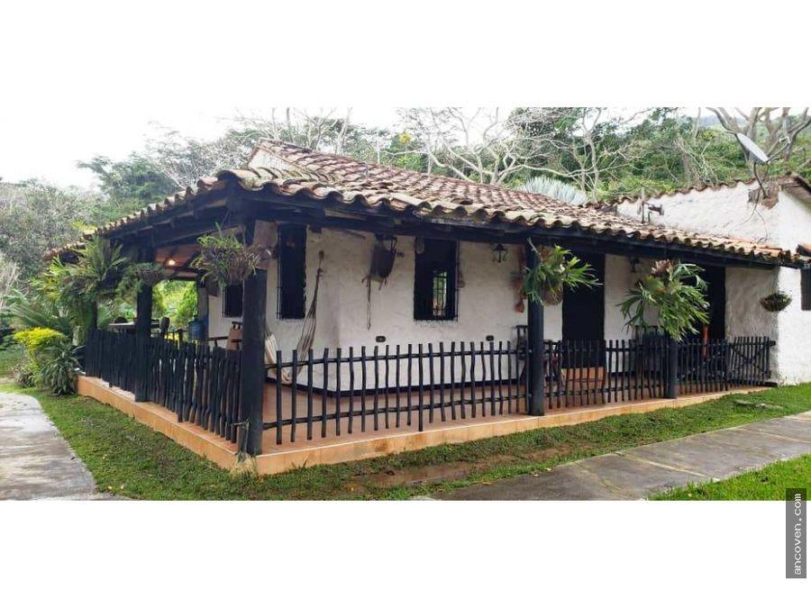 ancoven premium vende casa campestre en canoabo