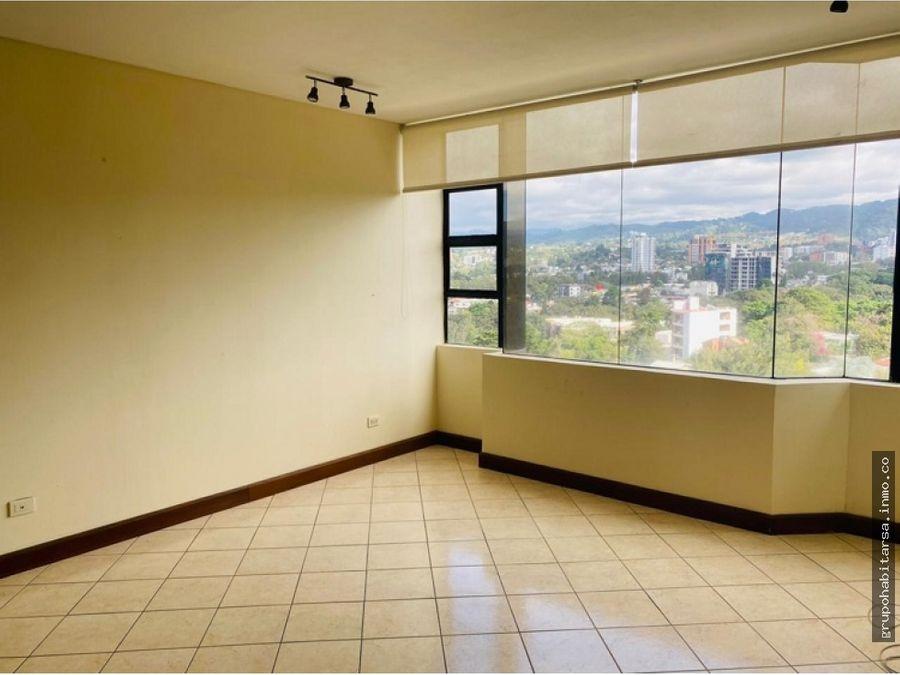 alquilo zona 10 apartamento en nivel alto vista a las montanas