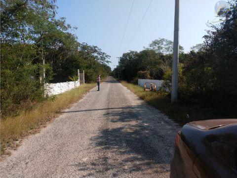 terreno en venta a 15min de merida en mococha yucatan