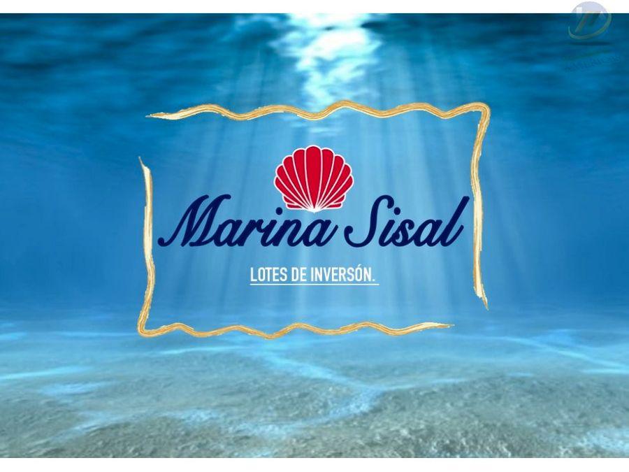 marina sisal lotes de inversion a 10 min de sisal