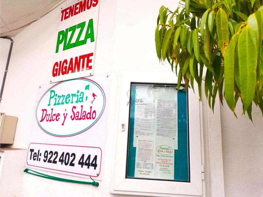 restaurante pizzeria en traspaso