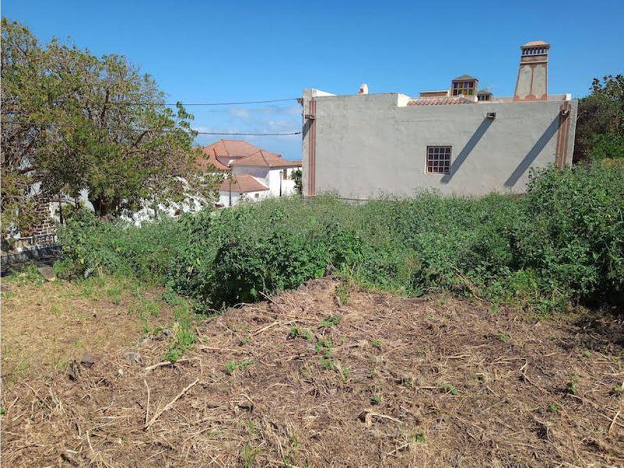 venta de terreno urbano en garafia