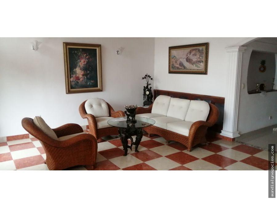 hermosa casa 2 pisos con apartestudio b jardin en santa marta ab015