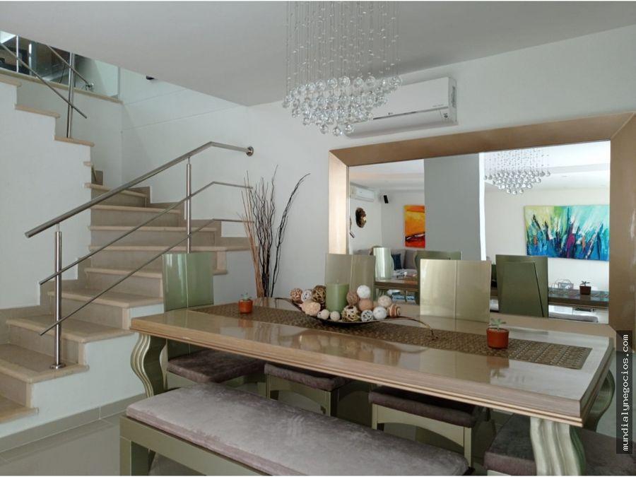 en venta lujosa casa de esquina en castellanas barranquilla