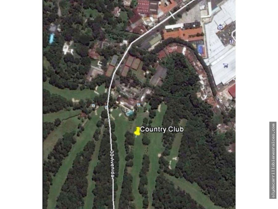 terreno en venta en country club zona 11 guatemala