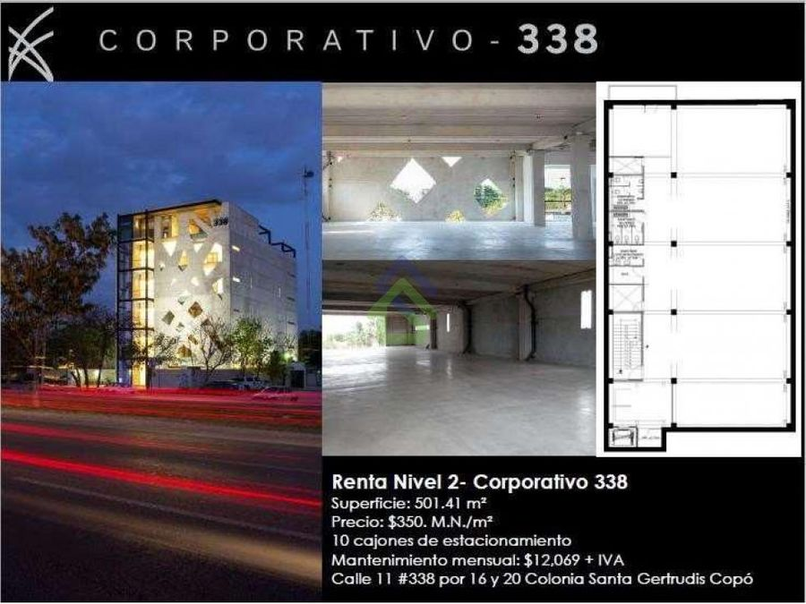 renta de piso en corporativo 338