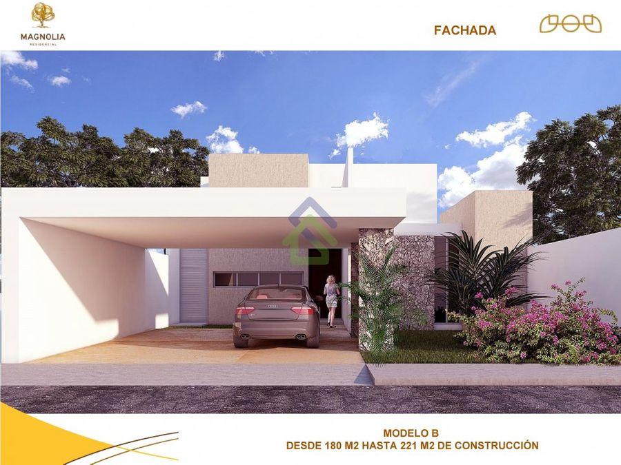 preciosas casas en magnolia en conkal