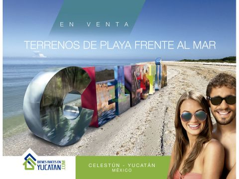 terrenos de playa frente al mar en celestun