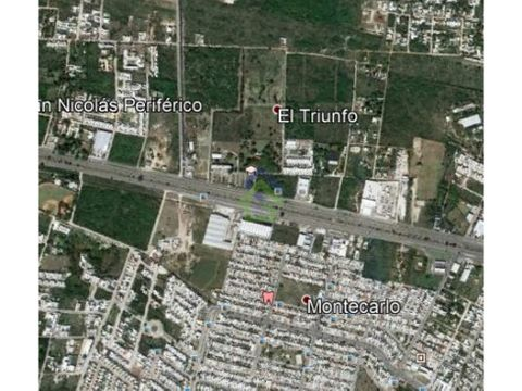 terreno al norte de merida a 200 mts de periferico