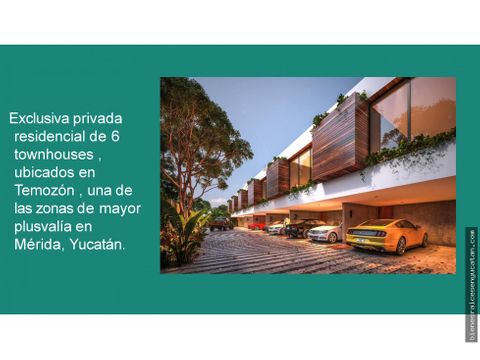 maravillosos townhouses en temozon norte