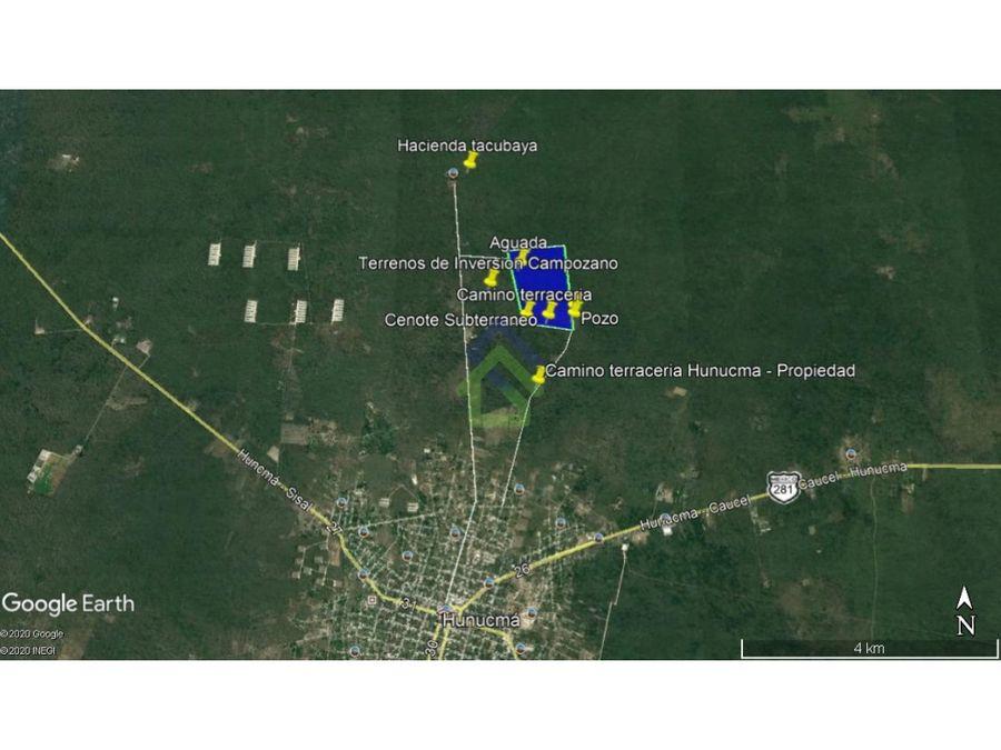 118 hectareas para inversion en hunucma