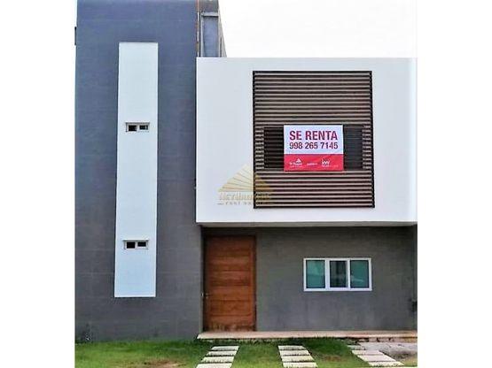 casa renta aqua cancun oportunidad