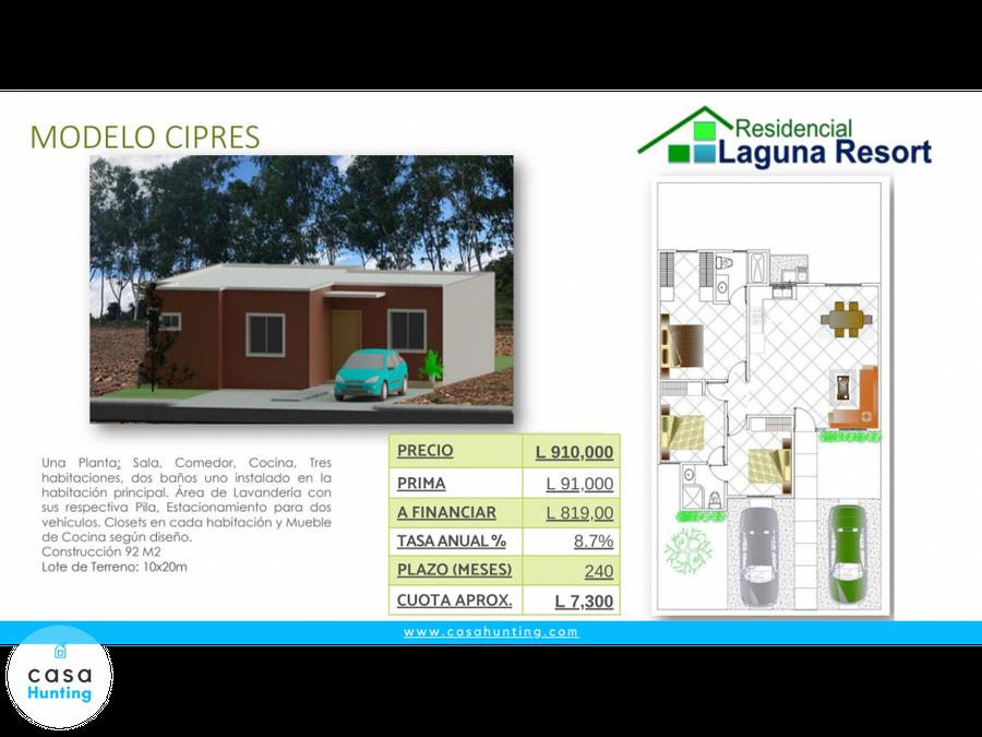 casa en pre venta res laguna resort sabanagrande