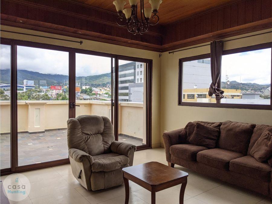 penthouse semi amueblado en alquiler col florencia norte