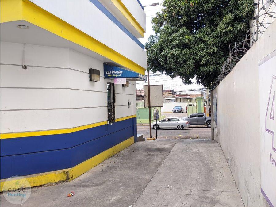 local de esquina en renta blvrd morazan 4420 m2