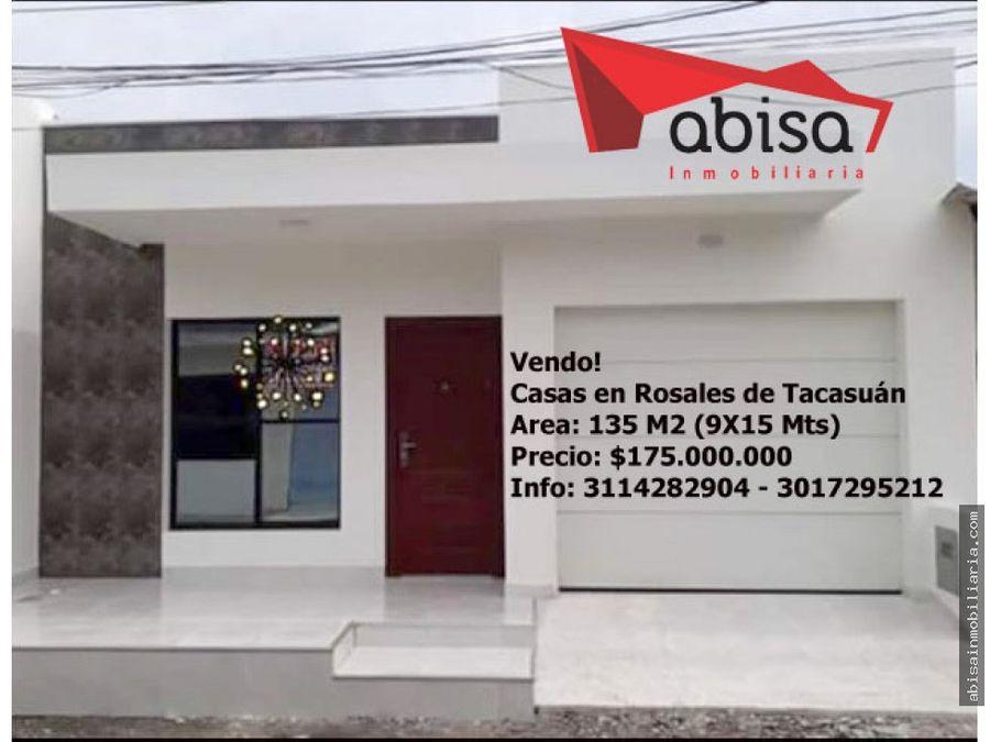 casas para estrenar en rosales de tacasuan