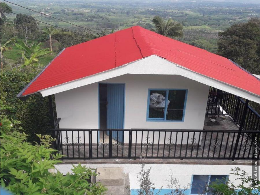 vendo casa campestre con hermosa vista