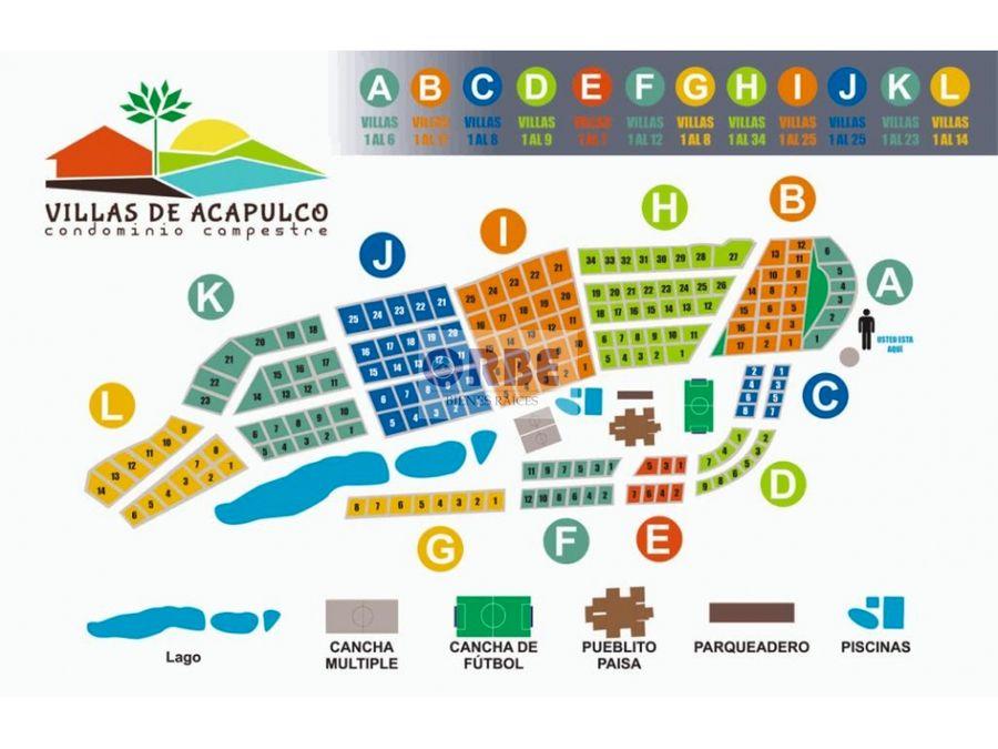 venta de lote via viterbo condominio campestre villas de acapulco
